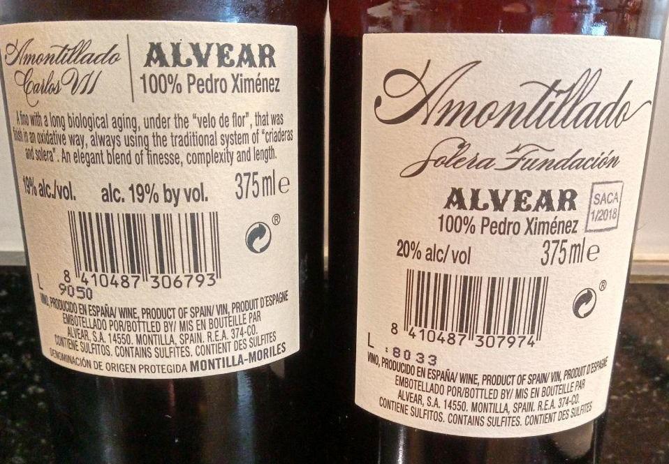 Amontillado Carlos VII Viejo vs Amontillado Solera Fundación Viejísimo